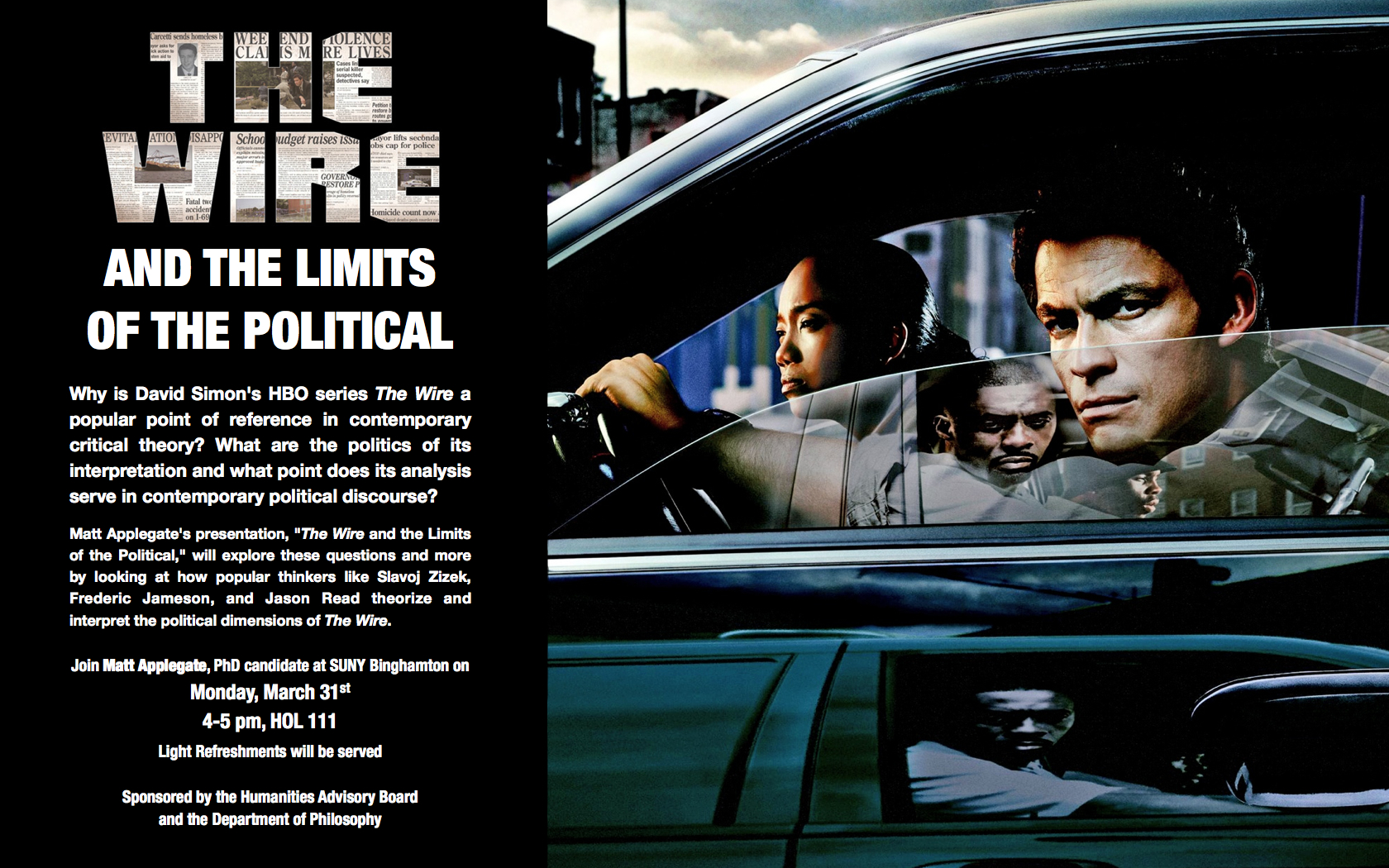 The Wire And The Limits Of The Political Matt Applegate